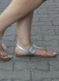 İnce Topuk Sandalet Gümüş